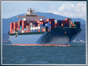 Photo of a cargo ship