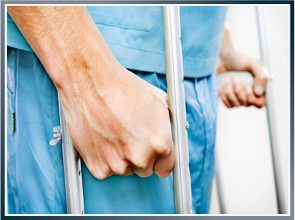 Picture of a Man in Crutches